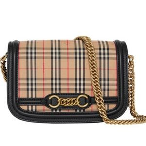 NEW BURBERRY CHECK SHOULDER BAG